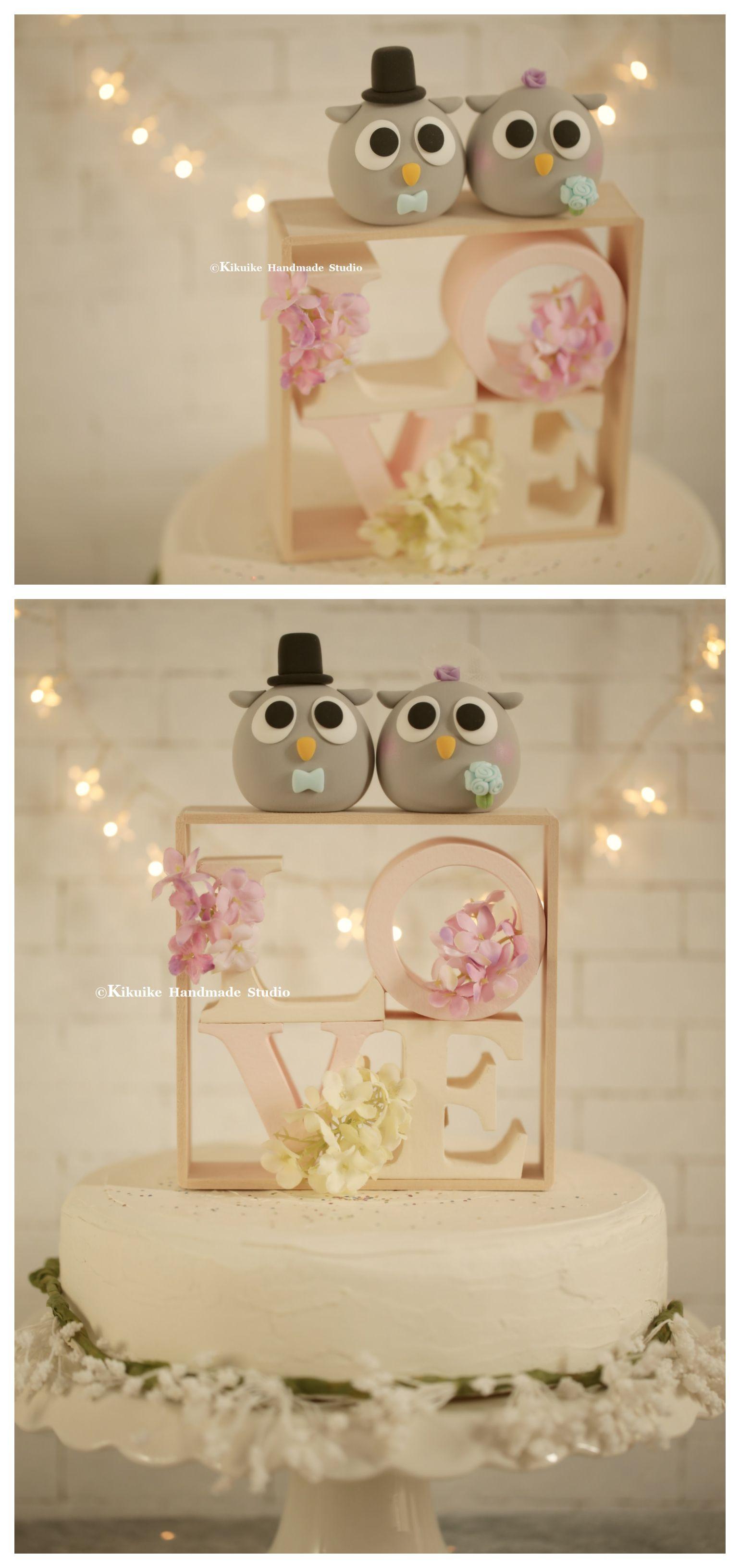 Owls wedding cake topper mochiegg cake topper pinterest