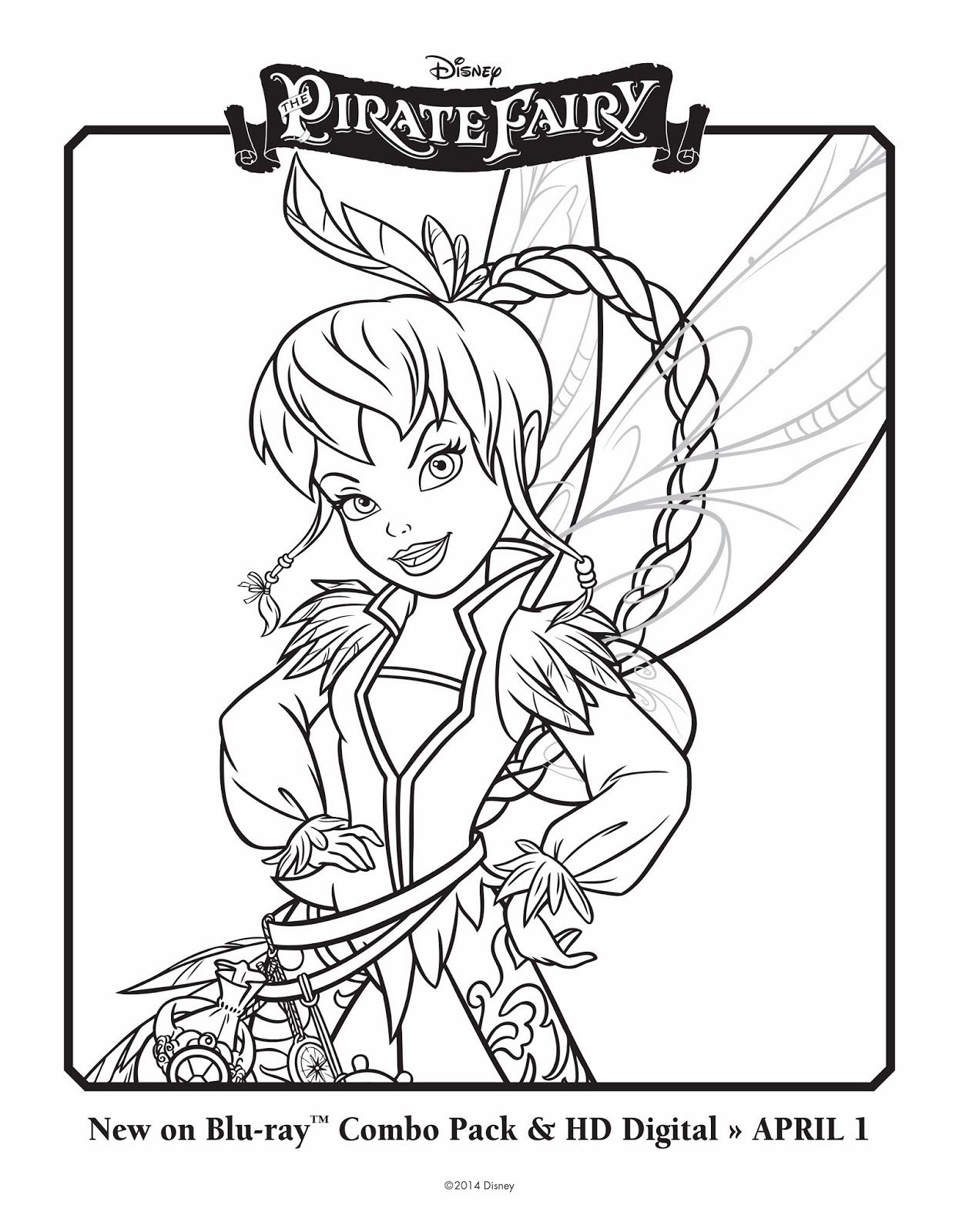 Fawn as a pirate fairy coloring pages pinterest pirate fairy
