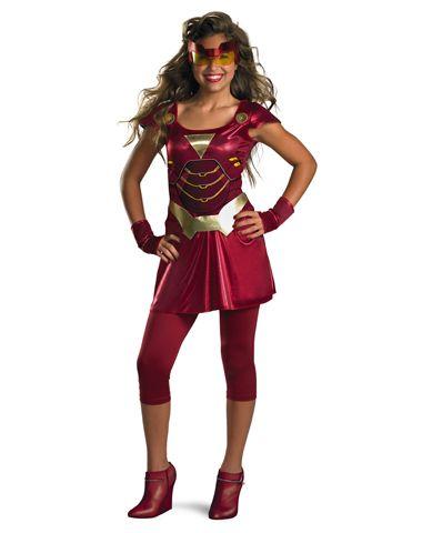Iron Man Ironette Girls Costume for sarah Halloween Party Ideas - halloween teen costume ideas