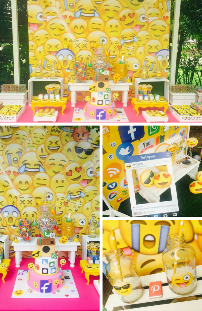 Emoji Party Inspirations Birthday Party Ideas For Kids Emoji Party Kids Party Decorations Emoji Party Decorations