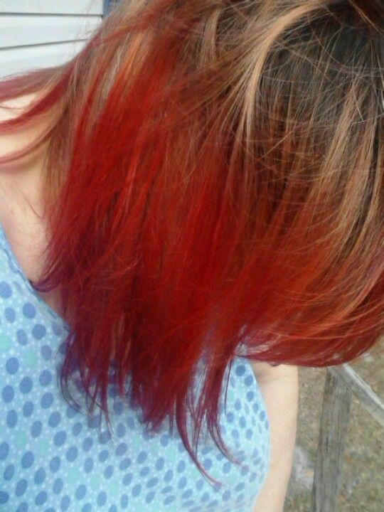 Cherry Red Kool Aid Dip Dye Hair Kool Aid Hair Temporary Hair Color