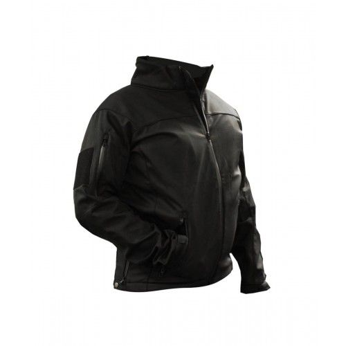 Law Enforcement Soft Shell Tactical Jacket With Fleece Lining Black