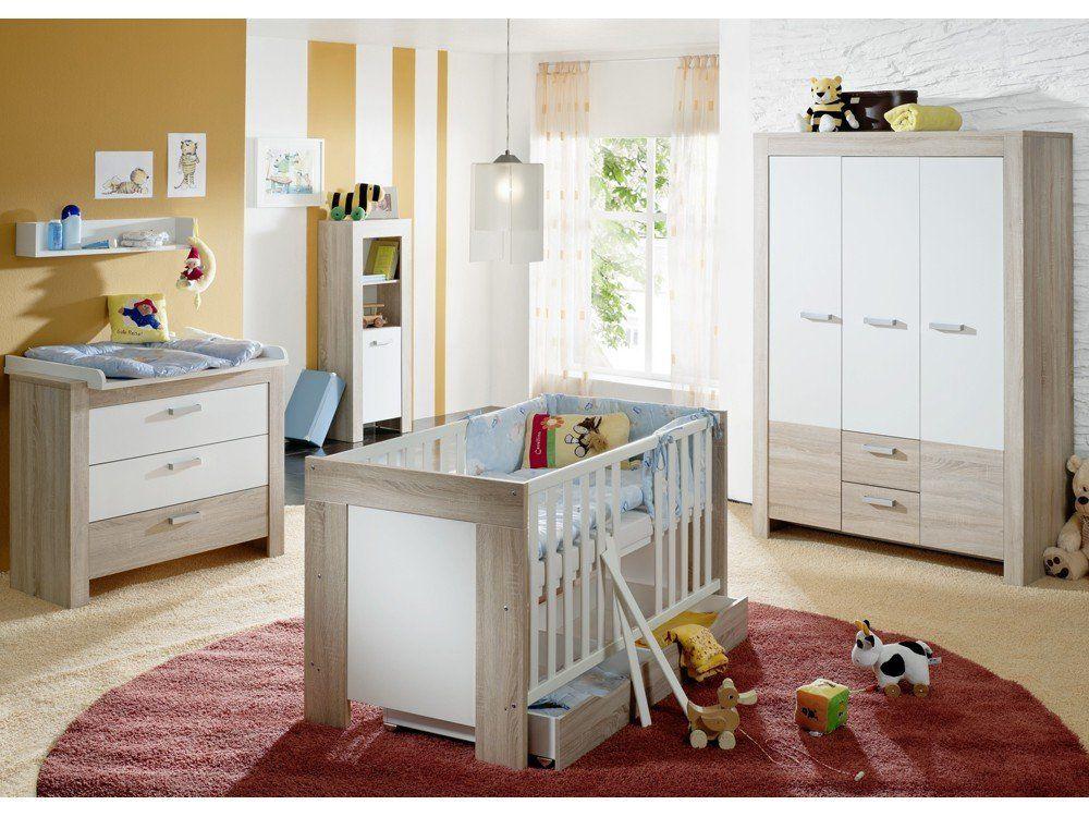 BAMBI Babybett Wildeiche trüffel\/weiß Kinderzimmer Pinterest - pinolino babyzimmer design