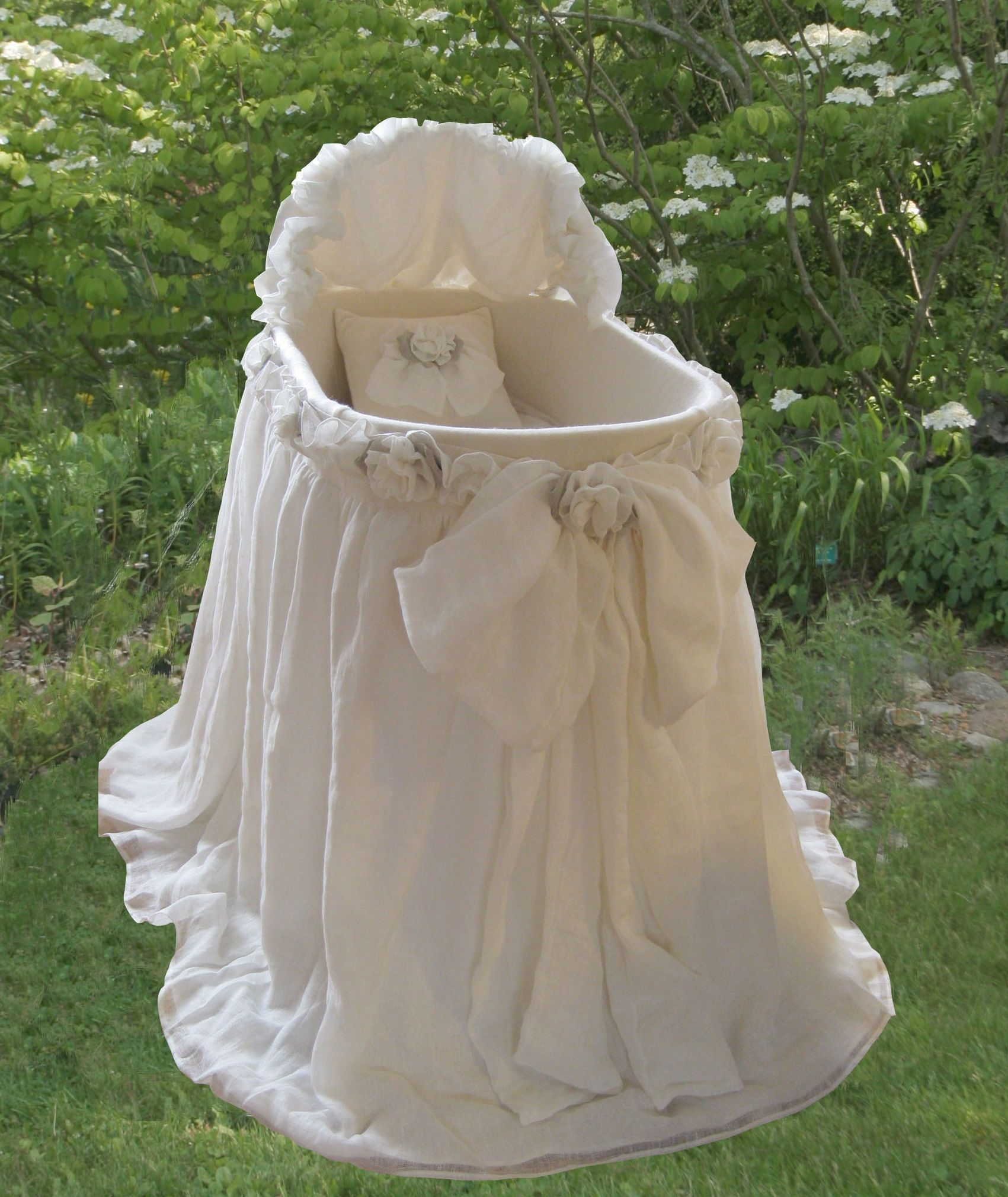Baby Bassinet Linen Edinburgh Bassinet In Irish Linen By Lulla Smith Baby