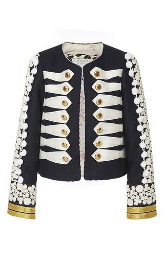 29507c5ca6b7 This limited edition   Alix of Bohemia   Stella jacket features floral  embroidered sleeves