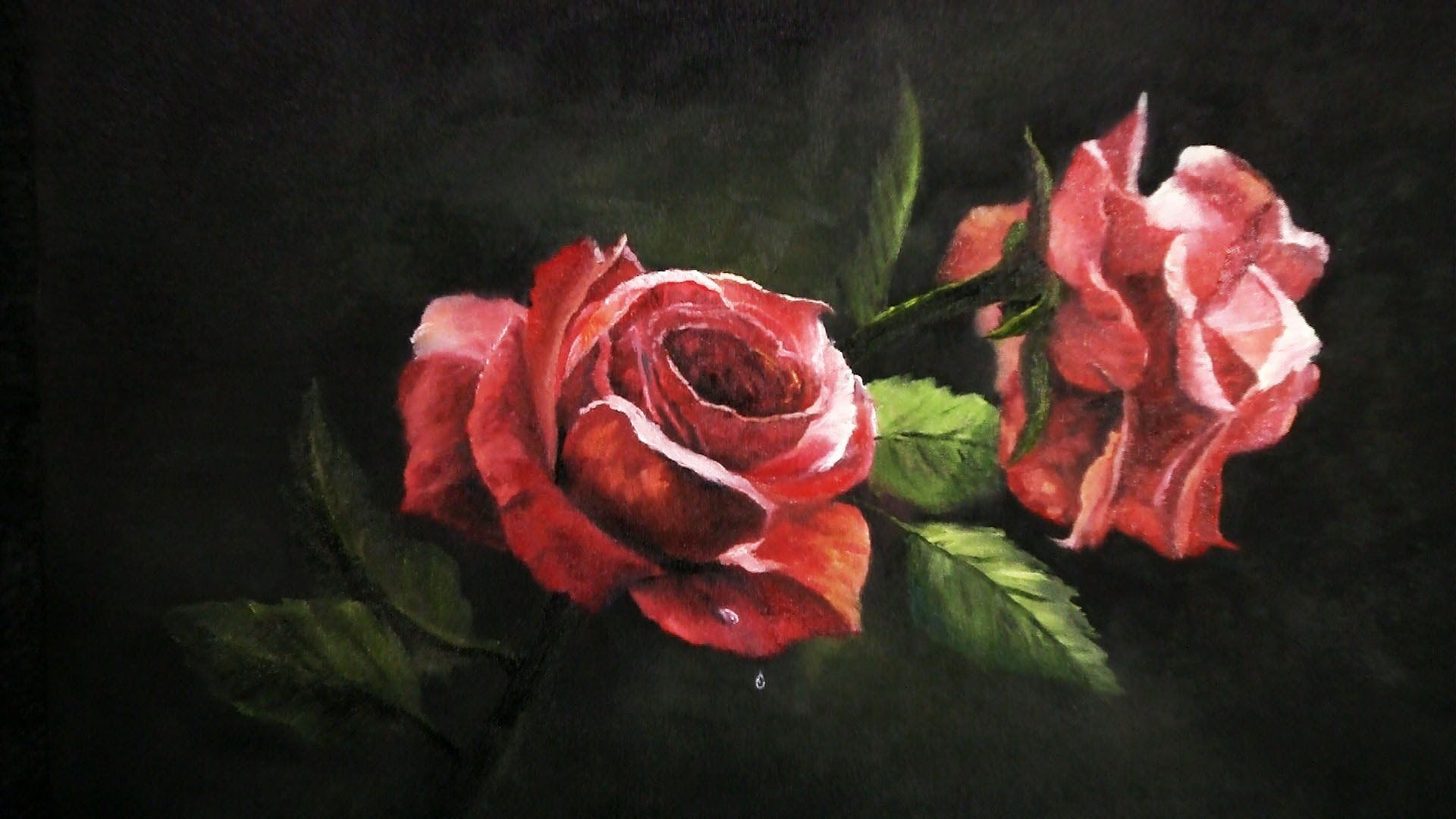 Watch Kevin As He Teaches You How To Paint These Roses