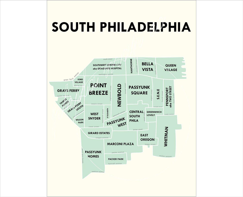 Map Of South Philadelphia South Philadelphia Neighborhoods | Favorite Places & Spaces