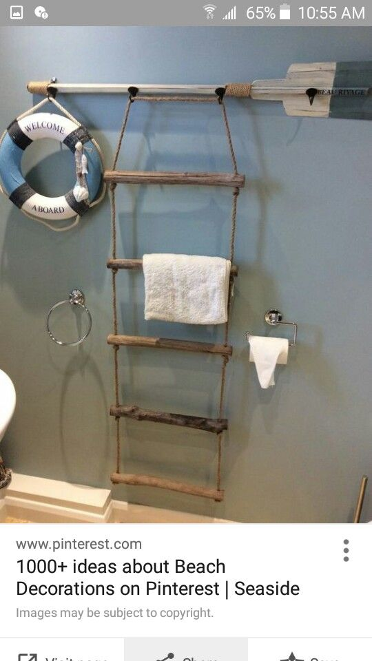 Look what I found on | Towel ladder, Diy