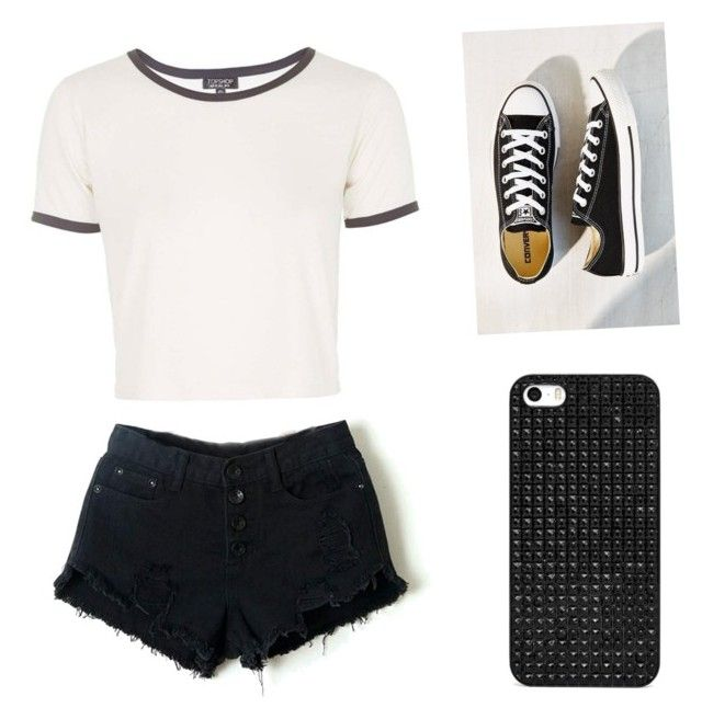 Untitled #31 by jessie2705 on Polyvore featuring polyvore, fashion, style, Topshop, Converse and BaubleBar