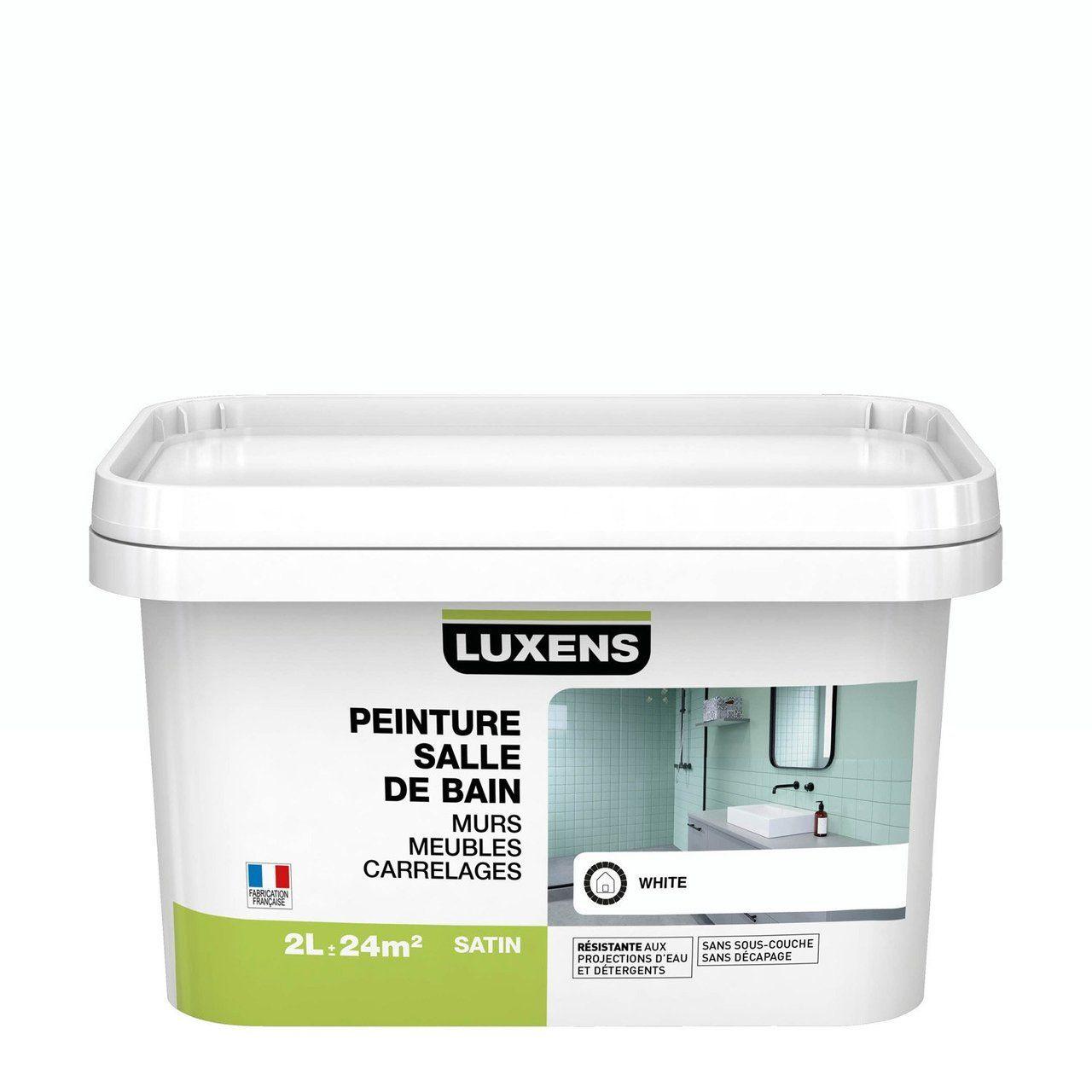 peinture salle de bain murs meubles carrelages luxens
