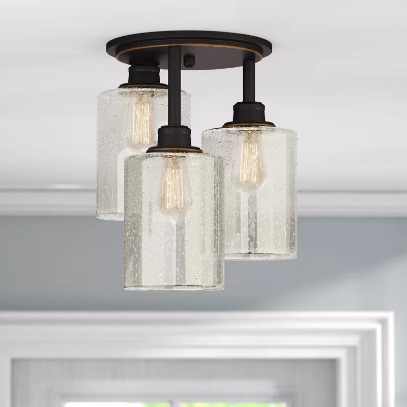 Vivian 3 Light 12 6 Semi Flush Mount Modern Light Fixtures Light Farmhouse Lighting