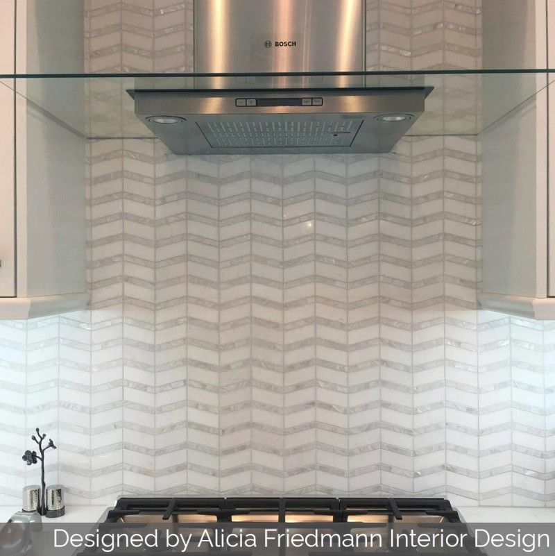 Alerion Thassos Marble And Mother Of Pearl Chevron Tile Pearl Tile Chevron Tile Mother Of Pearl Backsplash