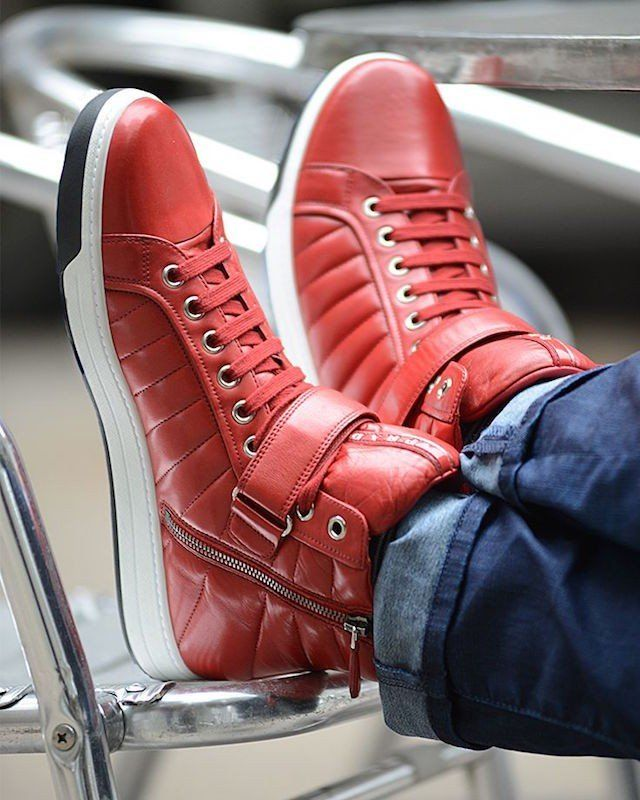 42e7bbebec Prada Quilted Nappa Leather High-Top Sneakers | Favor Style|Man ...