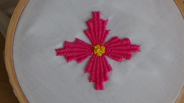 Hand Embroidery: Kadai kamal Stitch (Flowers)