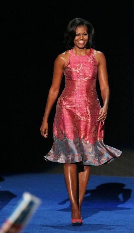 First Lady Michelle Obama approaches the stage to deliver her rousing speech on Day 1 of the Democratic National Convention! YGG! If you missed it, use this link to watch it on YouTube!