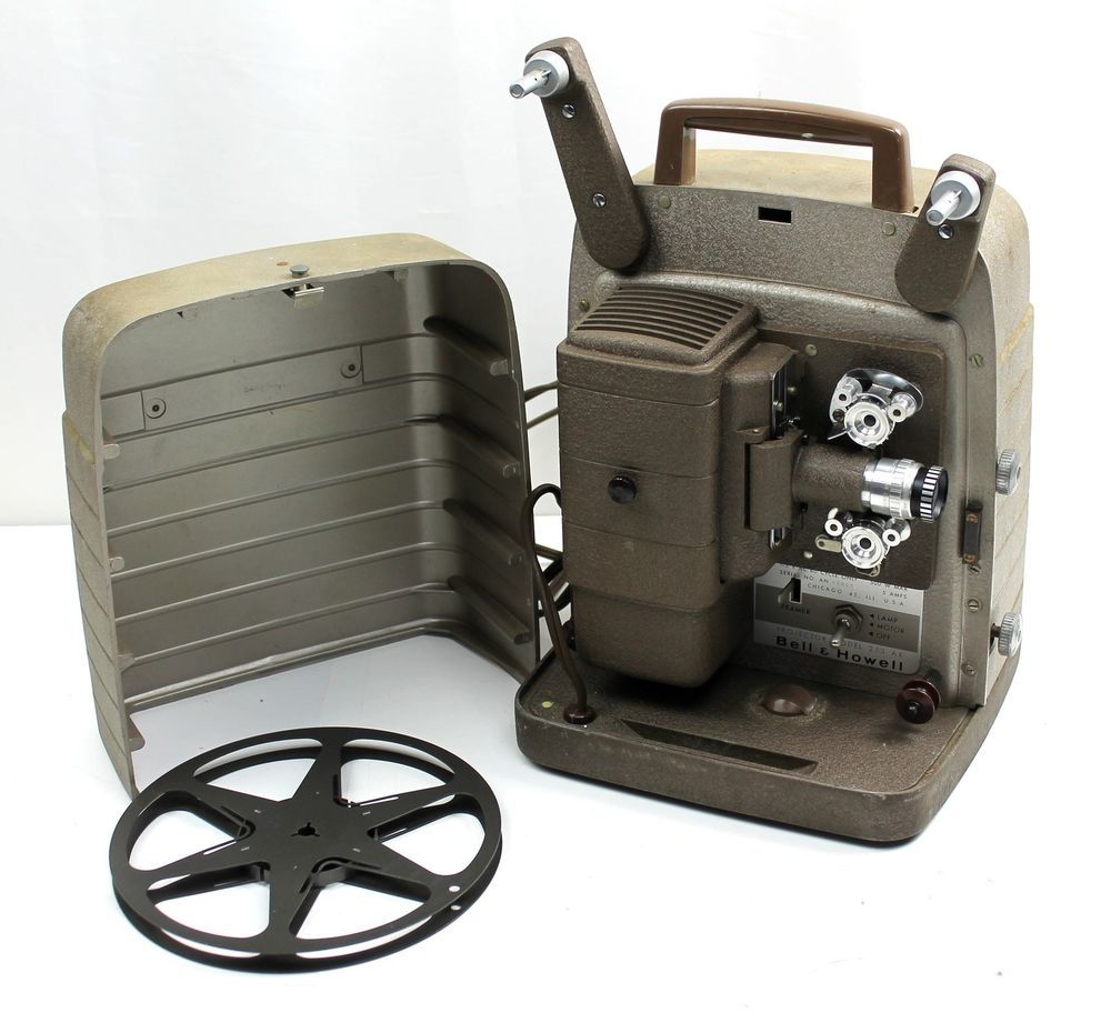 Vintage Bell & Howell Movie Projector 253 AX 8mm Film *NEXT