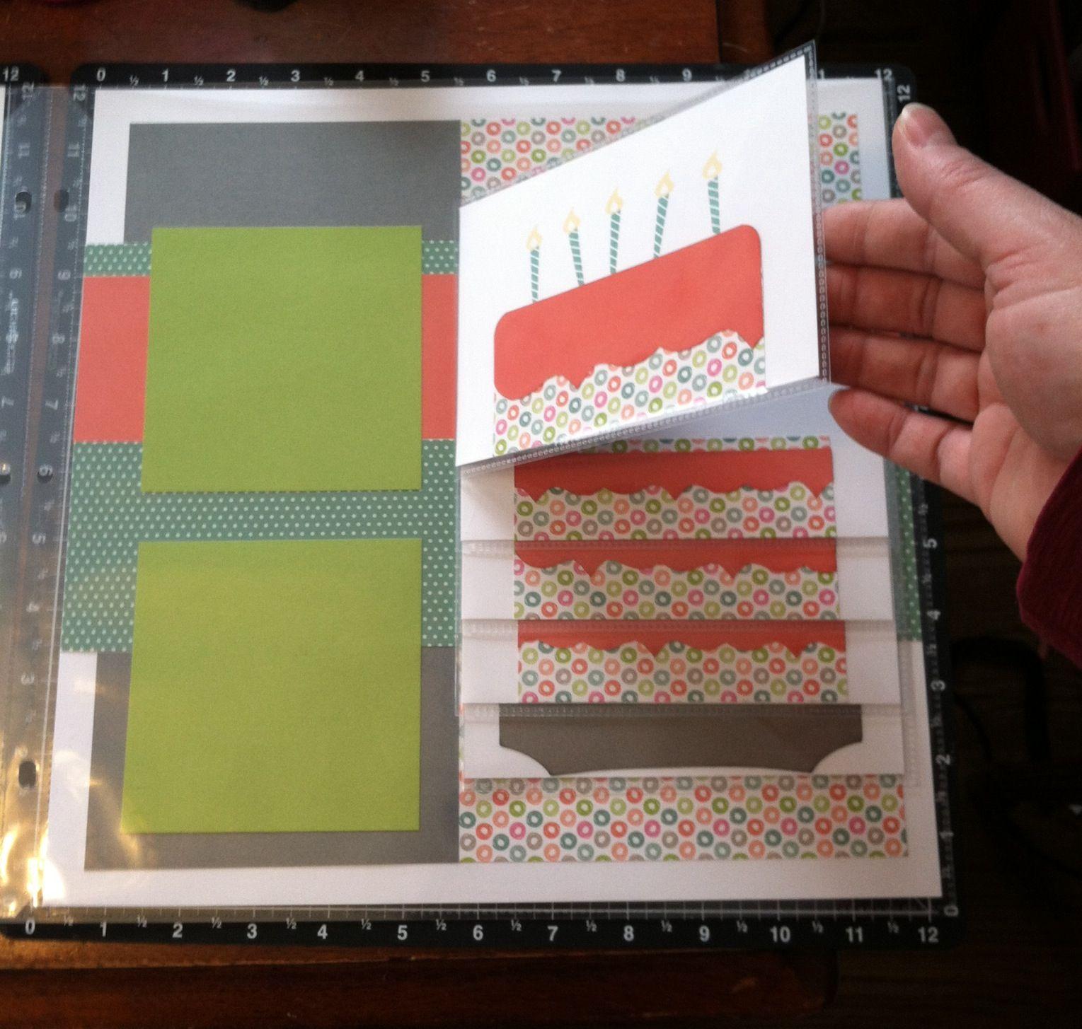 lollydoodle flip flap layout scrapbooking mini albums pinterest fotoalben karten. Black Bedroom Furniture Sets. Home Design Ideas