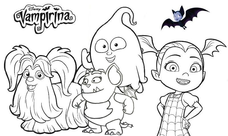 Disney Vampirina Coloring Page Collection With Images Baby
