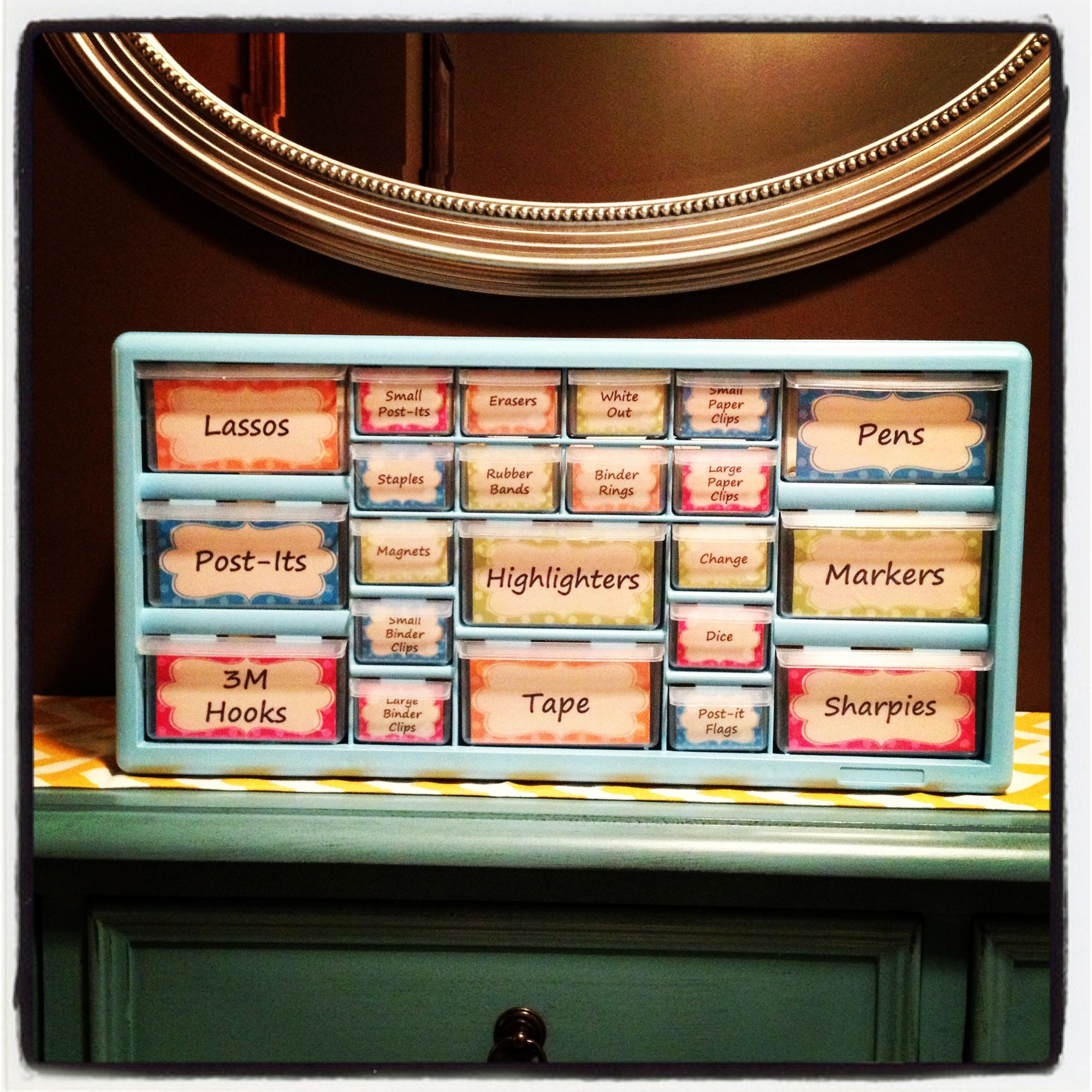 My new Teacher Toolbox 22 drawer organizer can be purchased from