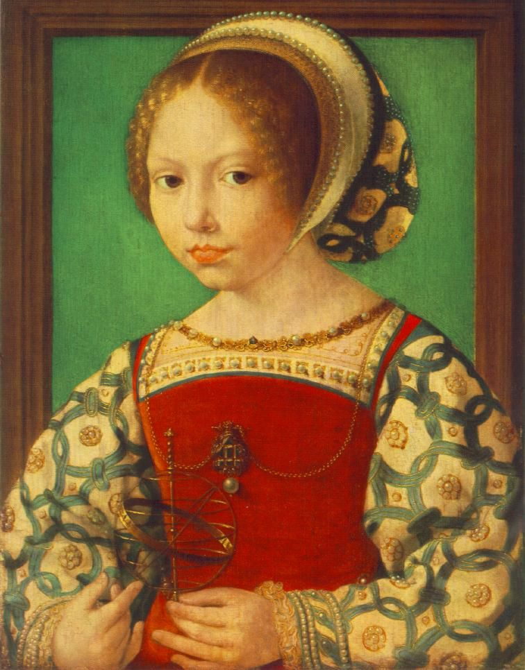 French Hood Images: Young Girl with Astronomic Instrument - Tudor Research - www.kimiko1.com