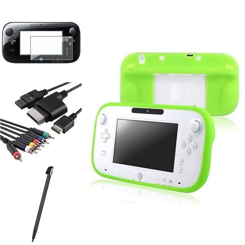 INSTEN 2 Green Gamepad Silicone Case 4in1 AV Component Cable 2 LCD Black Pen For Wii U Review Buy Now