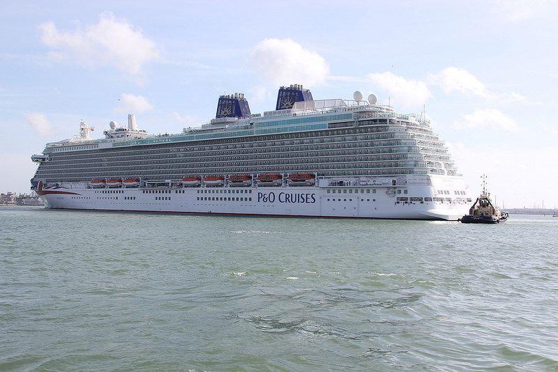 P O Cruises Britannia Southampton Arriva P O Cruises Cruise Southampton