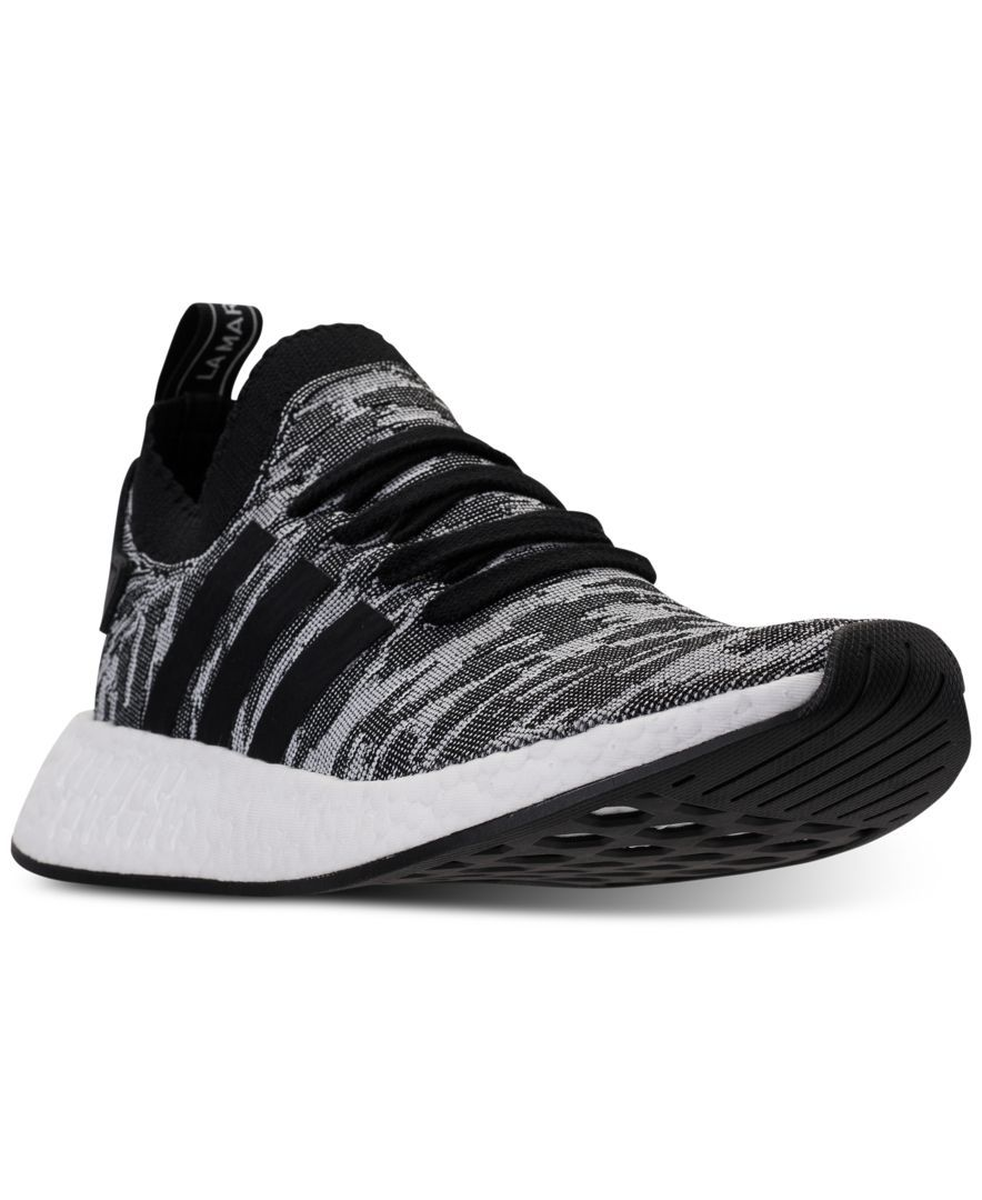 4e8a1b4ade336 adidas Men s Nmd R2 Primeknit Casual Sneakers from Finish Line ...