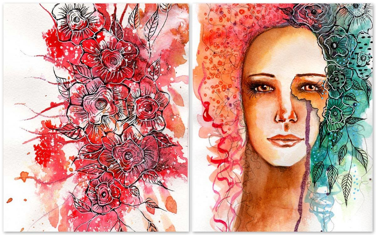 Exploring Watercolor Portraits...and more - Guada´s Circle