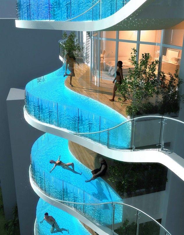 Luxury Condos with Private Pools | Mumbai, Condos and Balconies