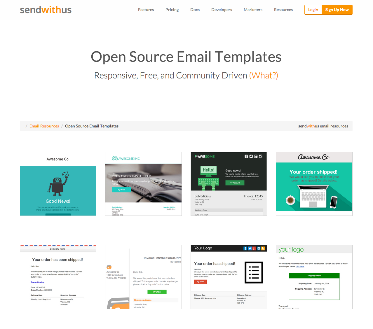 Open Source Email Templates From SendWithUscom Httpswww - Open source email templates
