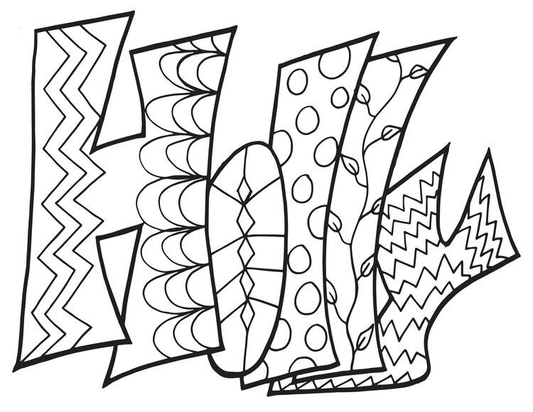 Holly Classic Stevie Doodle Printable Free Printable Coloring Page Stevie Doodles Free Printable Coloring Pages Printable Coloring Pages Coloring Pages