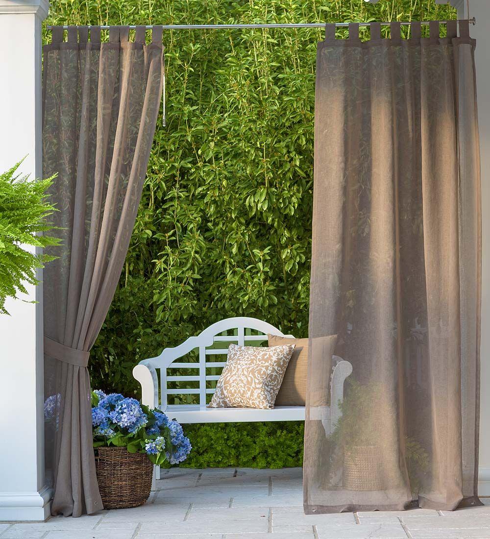 Sunspun Tab Top Outdoor Curtains Hang These Indoor Outdoor Semi
