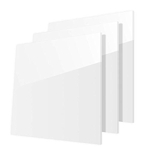 3 Pack 12 X 12 X 12 White Acrylic Sheet Plexiglass Sheets Highly Versatile Light Weight And High Im In 2020 Plexiglass Sheets White Acrylic Sheet Acrylic Sheets