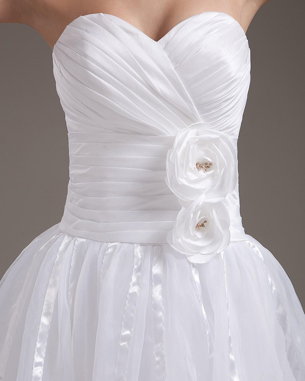 Elegant Strapless Short Wedding Dressizidresses  Dream wedding