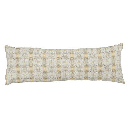 Classic Gold Damask Pattern Body Pillow - classic gifts gift ideas diy custom unique
