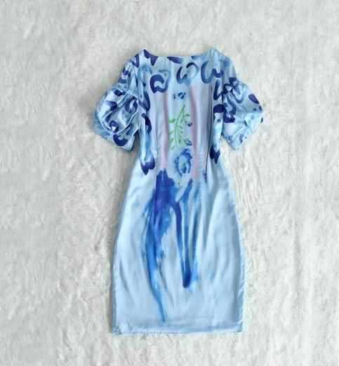 Letnia Sukienka Mini S M L Xl Xxl Print Jedwab 6863244160 Oficjalne Archiwum Allegro Dresses Dresses With Sleeves Clothes