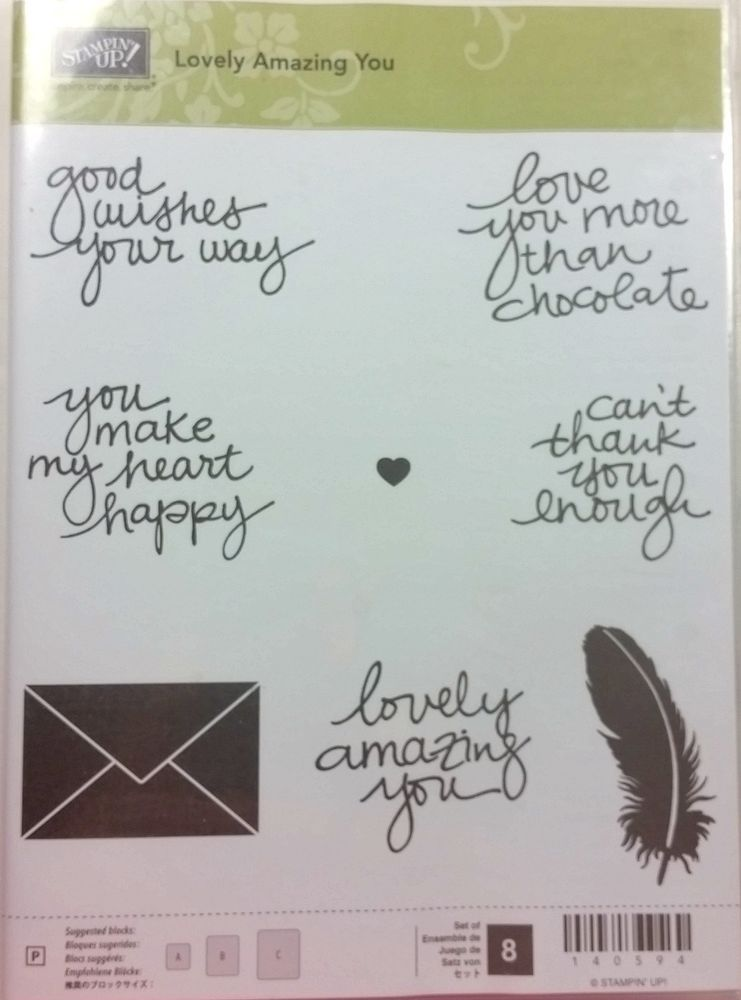 Stampin' Up! LOVELY AMAZING YOU Photopolymer Envelope Love Chocolate NEW #StampinUp #Background