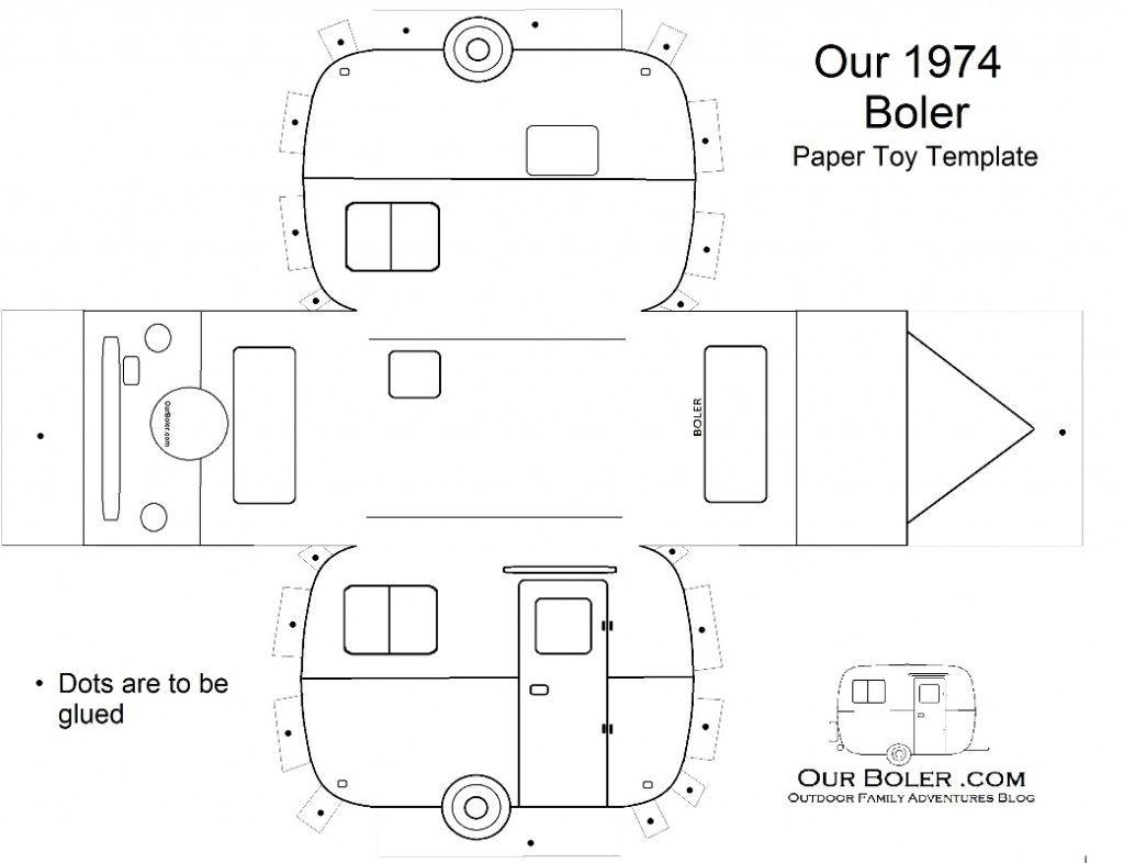 Boler Trailer Paper Toy Template | Outdoor Living | Pinterest ...
