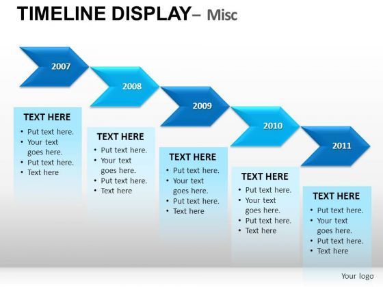 Arrows Timeline Chart PowerPoint Slides And Ppt Diagram Templates - Free powerpoint timeline templates