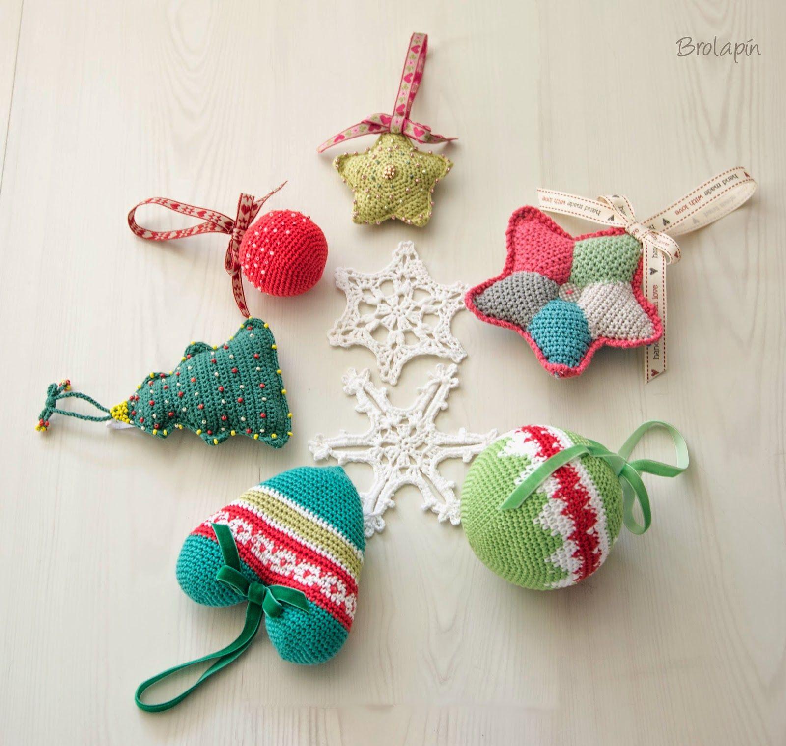 Adornos navidad 1 parte brolapin el blog de las ilustraciones fotograf as labores y las Adornos navidenos a crochet