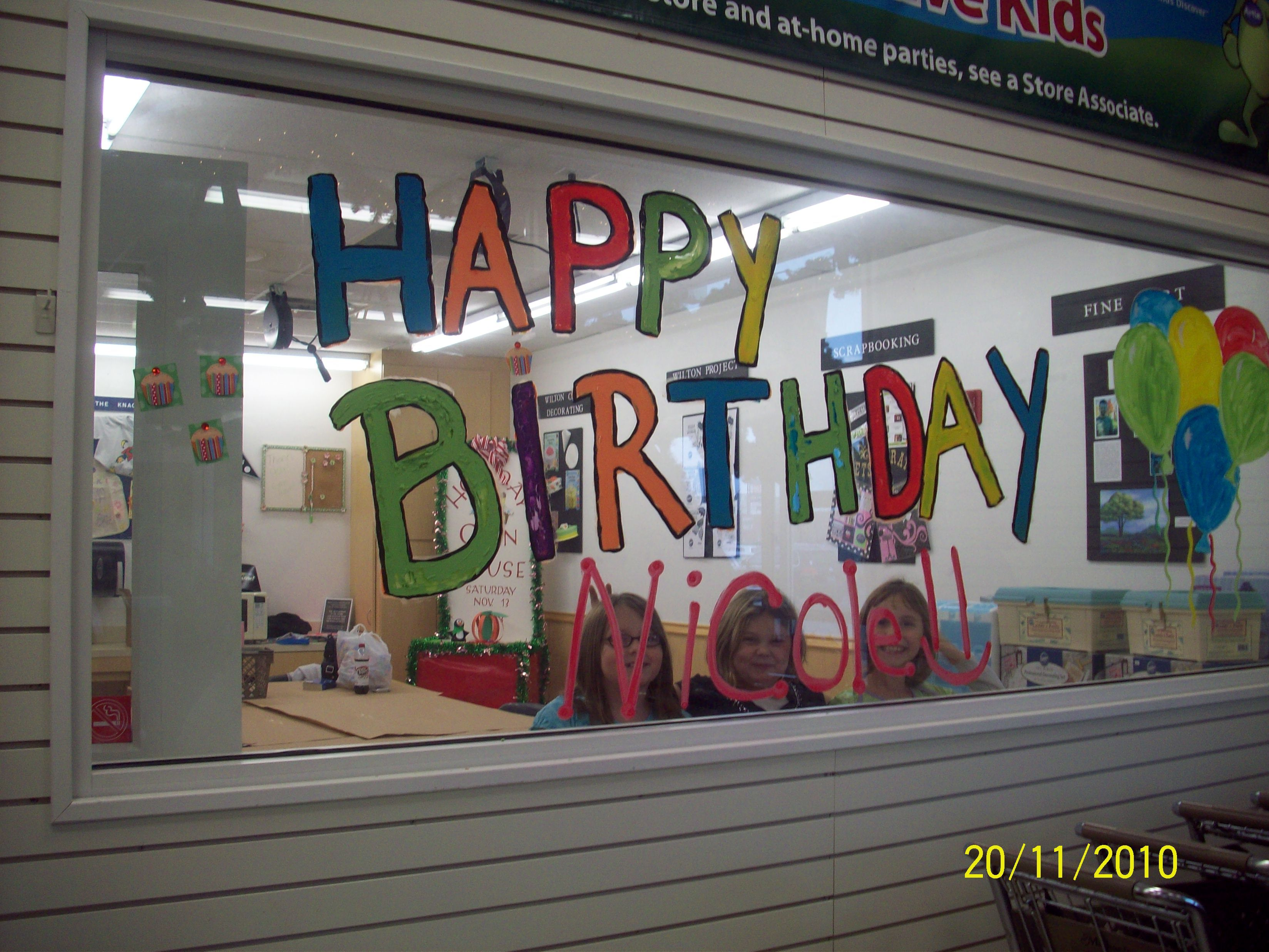 We held my daughter 39 s 10th birthday party at michael 39 s for Michaels crafts birthday parties