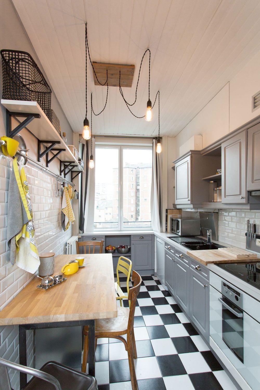 Cuisine Aménagée En Longueur cuisine aménagée en longueur | meuble cuisine, cuisine rétro