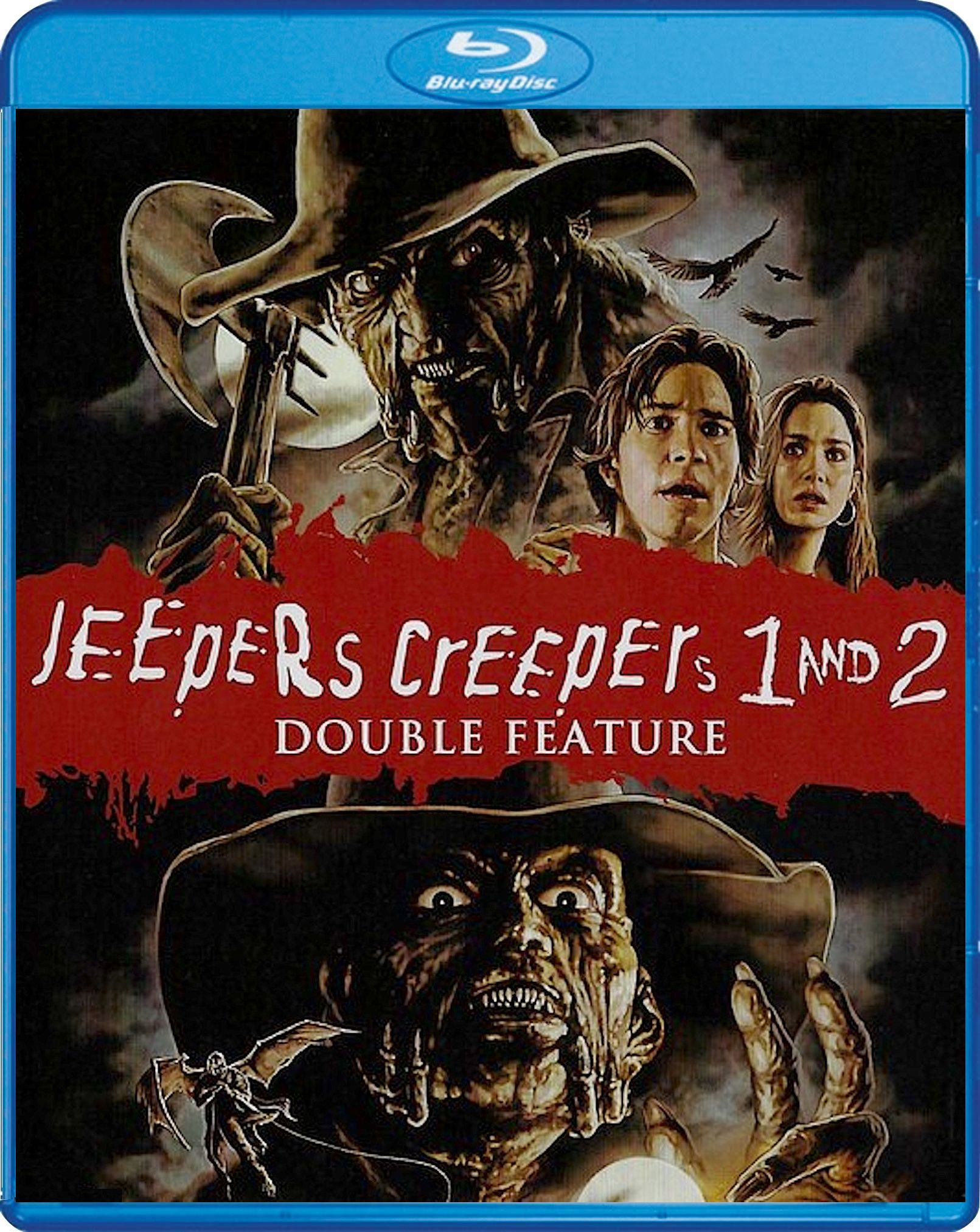 Jeepers Creepers 1 2 Double Feature Blu Ray Scream Factory Horror Movie Art Classic Horror Movie Art