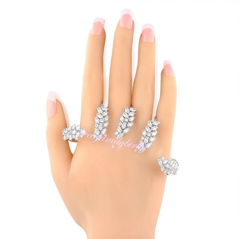 5025c99b78886 Vogue Ear Shape Zircon Handlet Palm Bracelet Hand Cuff Wedding ...
