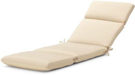 Amazon Com Strathwood Basics Hardwood Chaise Lounge Sunbrella Cushion Antique Beige Patio Furn Sunbrella Cushions Patio Furniture Cushions Lounge Cushions