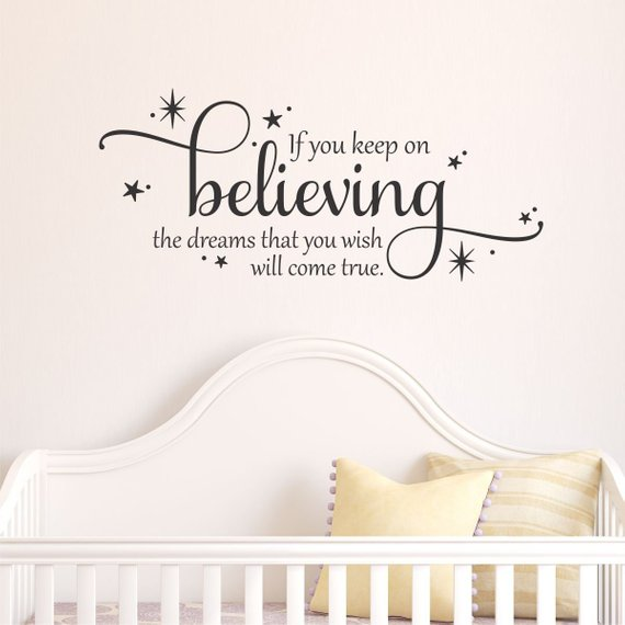 Spring Sale Wall Quotes Keep On Believing Wall Decal Cinderella