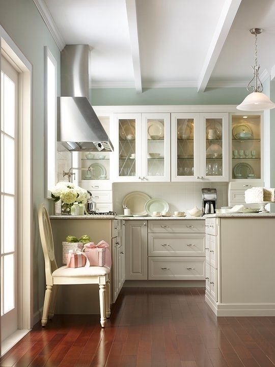Best Beautiful Kitchen White Cabinets With Glass Doors Wood 640 x 480