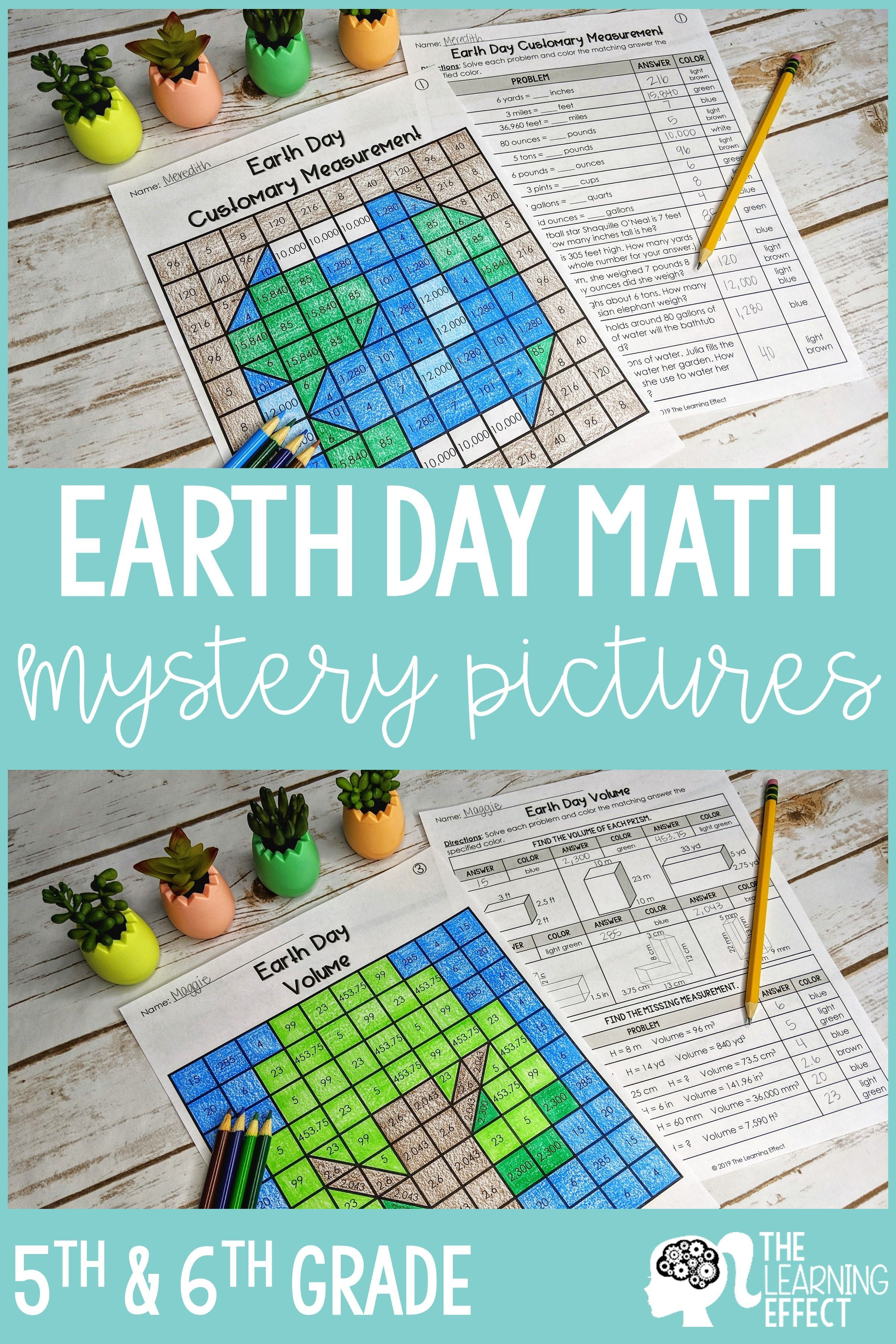Earth Day Math Mystery Pictures