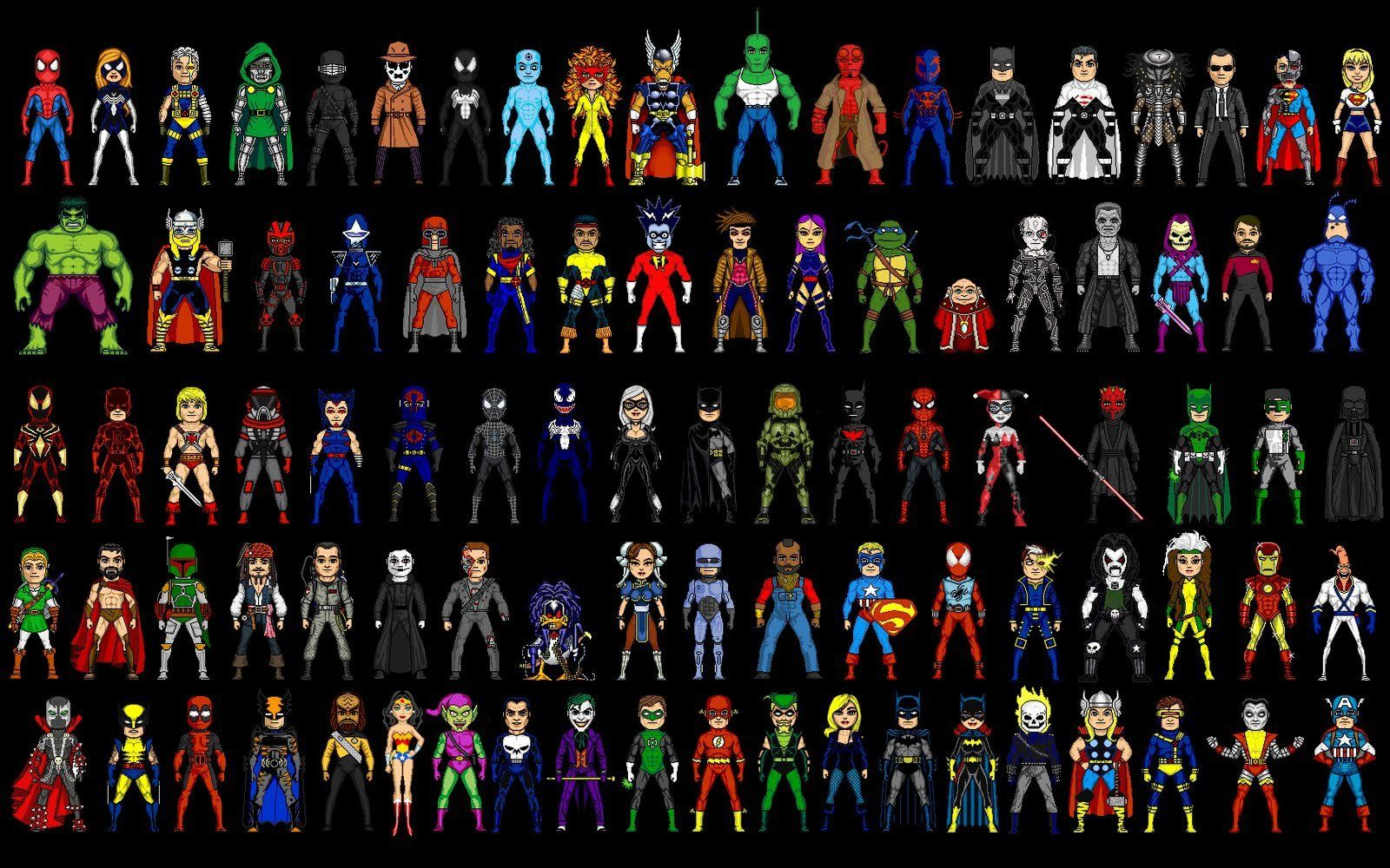 character designs from marvel heroes opening cinematic ...