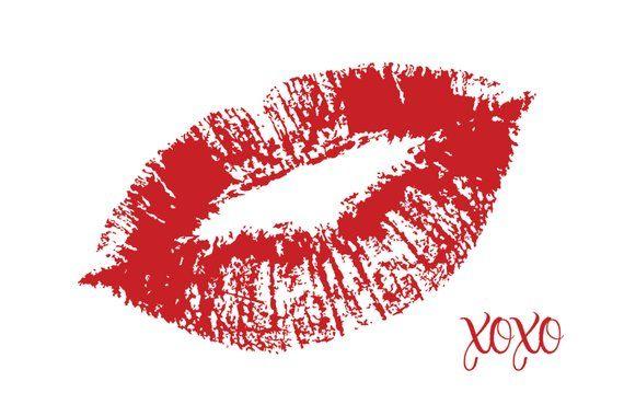Red Lips Area Floor Rug Kisses Xoxo Choose Word Text Phrase Love